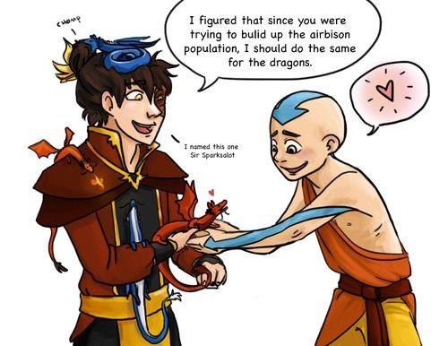 Avatar the Last Airbender - Avatar Aang x Prince Zuko - Zukaang
