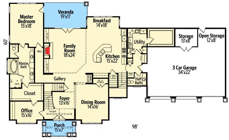Plan 58572sv Five Bedroom Shingle Style House Plan House Plans Shingle Style Architectural Design House Plans