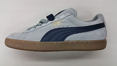 Details about Puma Suede Classic Lth Grey Navy Gum Bottom