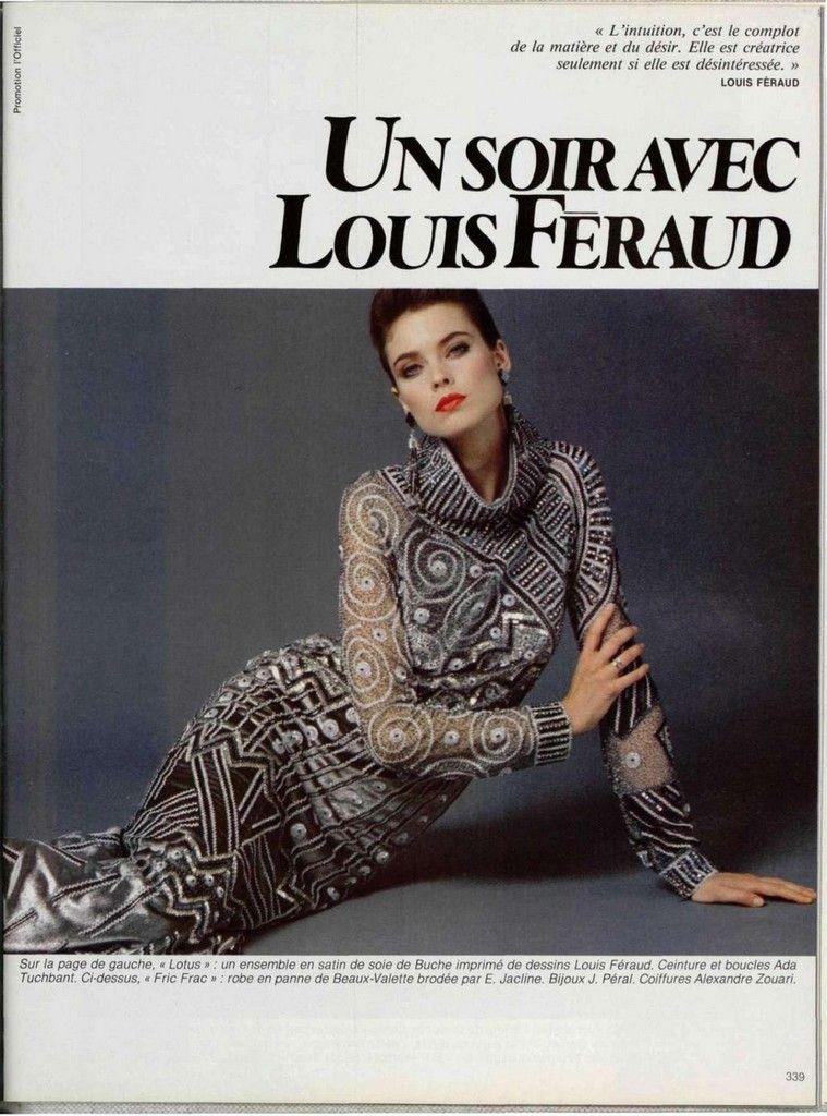 Louis Feraud 1980s | Модели, Фотосессия и Клипсы