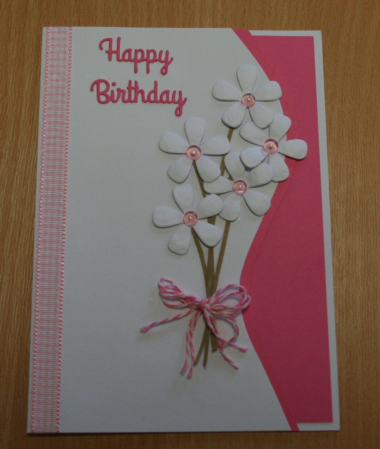 Handmade birthday card sizzix flower die for more of my cards