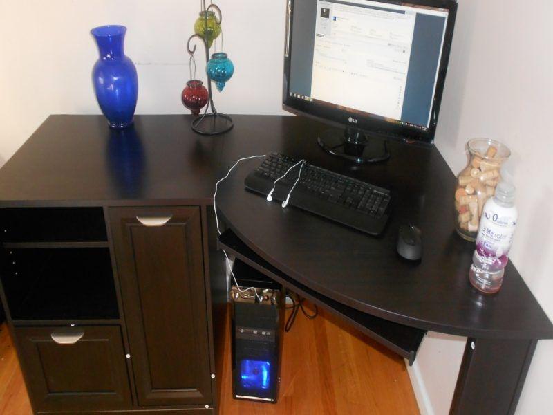 Desk Work Office Decor Ideas 145 Gorgeous Set Regarding Dimensions 1000 X Depot Sets Front Secretary Functions In An