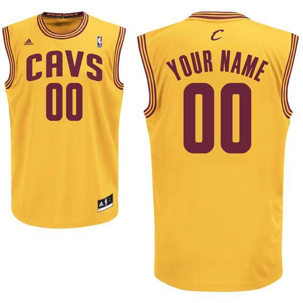 918ed8dd0 adidas Cleveland Cavaliers Custom Replica Alternate Jersey - Gold -  79.99