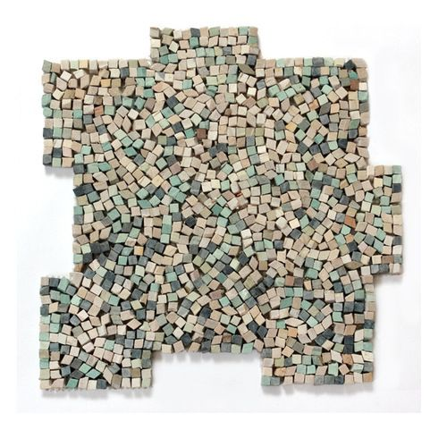 12 X 12 Decorative Tiles Entrancing Glass Tile Oasis  Nettuno Pebbles & Stones Green Kitchen Tumbled 2018