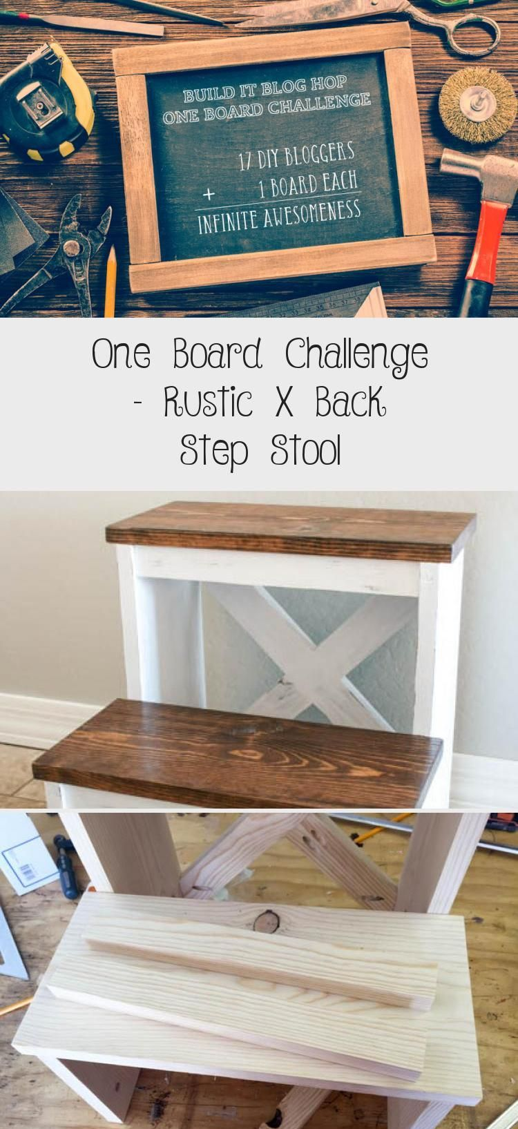 Build a rustic step stool with just one 8 foot board! The