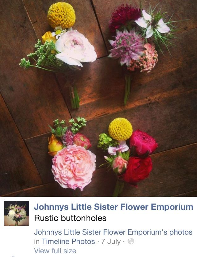 Button holes by Johnny's Little Sister Florist