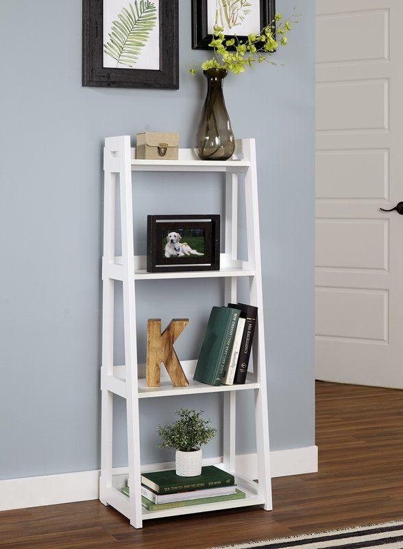 Narrow Ladder Bookcase With Images Bookcase Decor Small