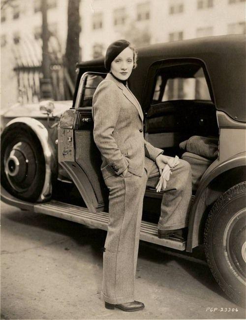 Marlene Dietrich Pantsuit