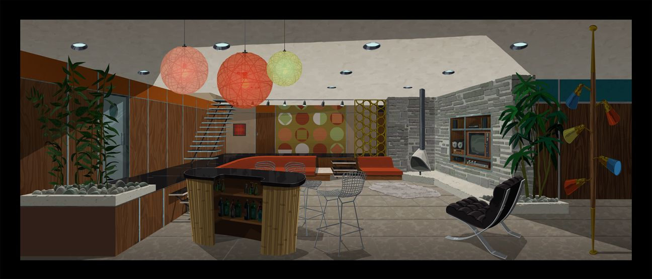 Venture Brothers Living Room (Venture Compound)