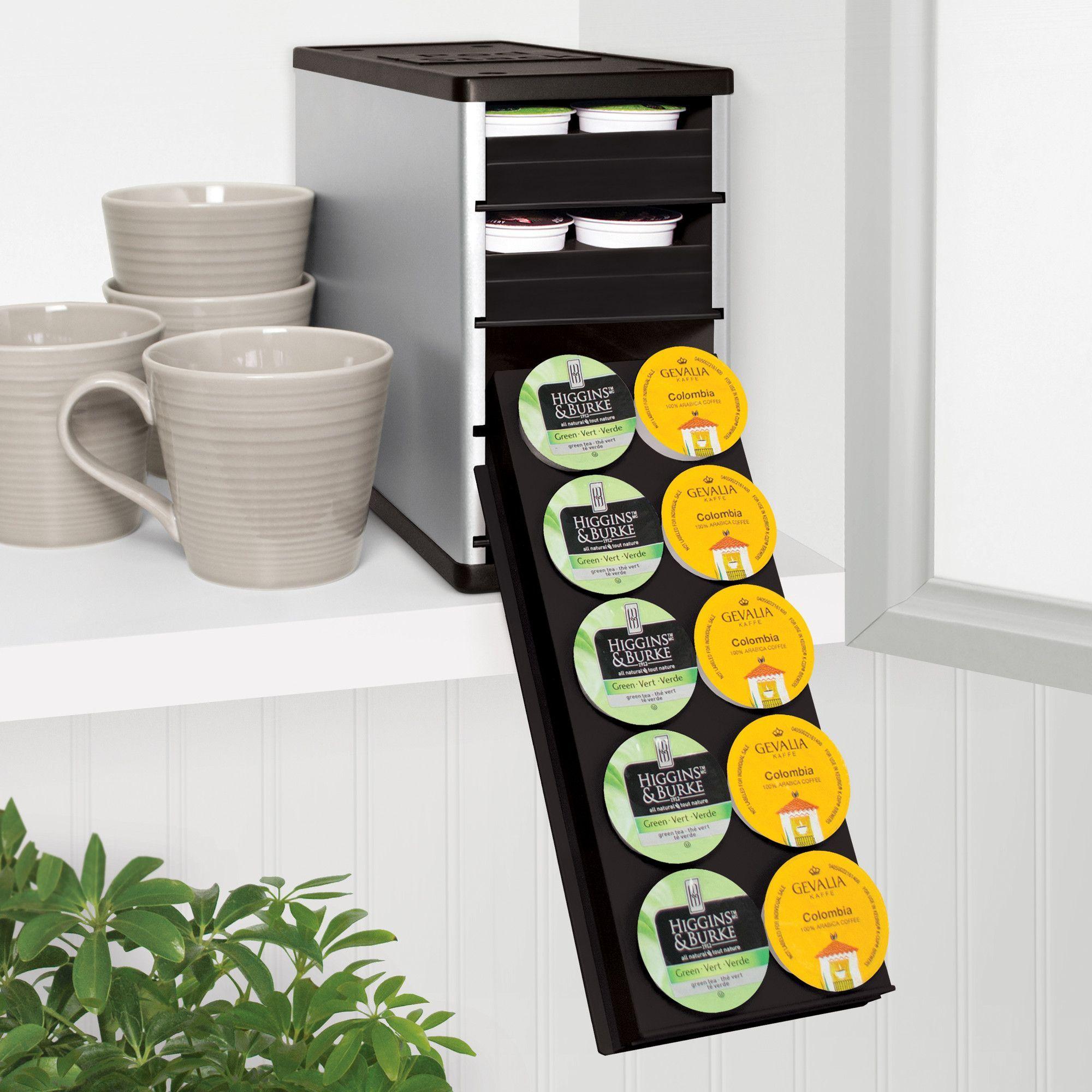 Coffeestack single serve coffee pod organizer youcopia