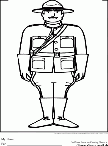 Canada study coloring pages: mounted police (big hit with