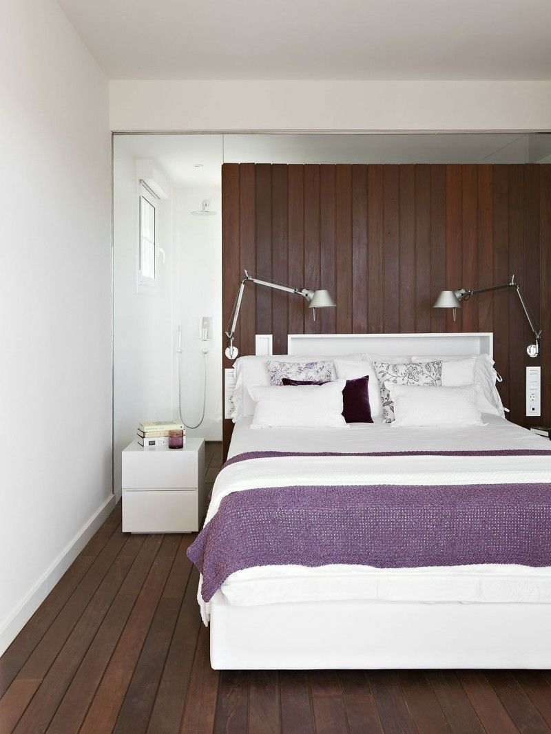Interior beautiful interior design with rich of women touches captivating modern classic bedroom design with combination colour white and purple blankets