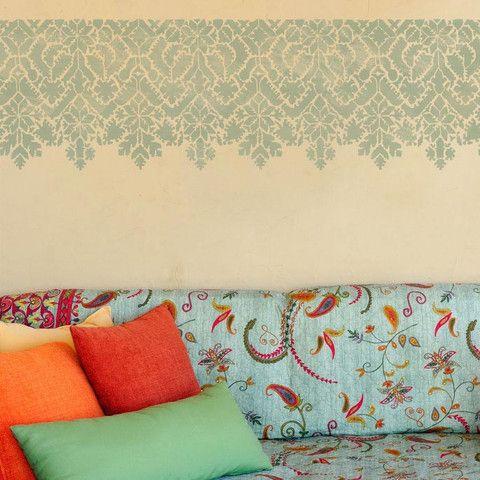 Moroccan Stencils   Moroccan Lace Border Stencil   Royal Design Studio