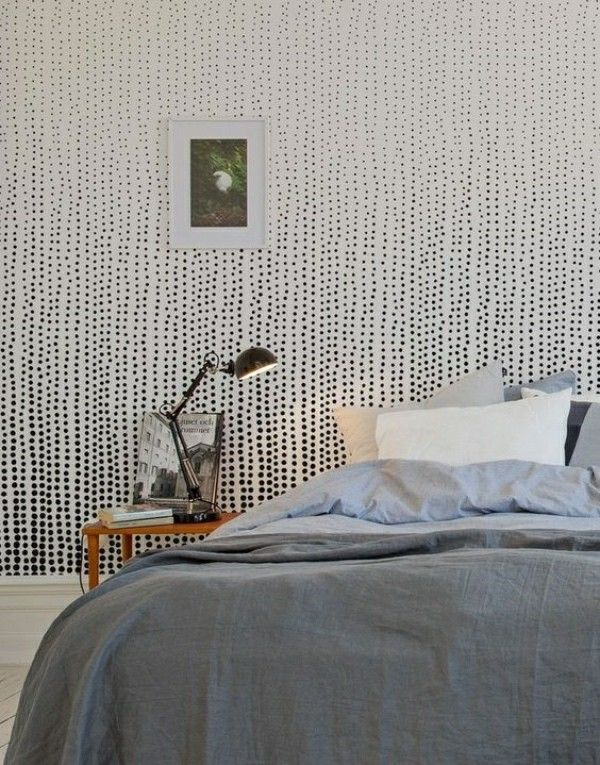 fototapete schlafzimmer minimalistische idee mit mustern - fototapete für schlafzimmer