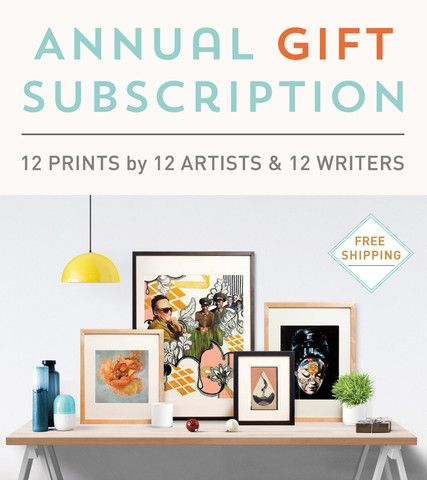 Papirmass.com • art gift subscription $69. in Canada - $99. international per month - a new art print in the mail every month