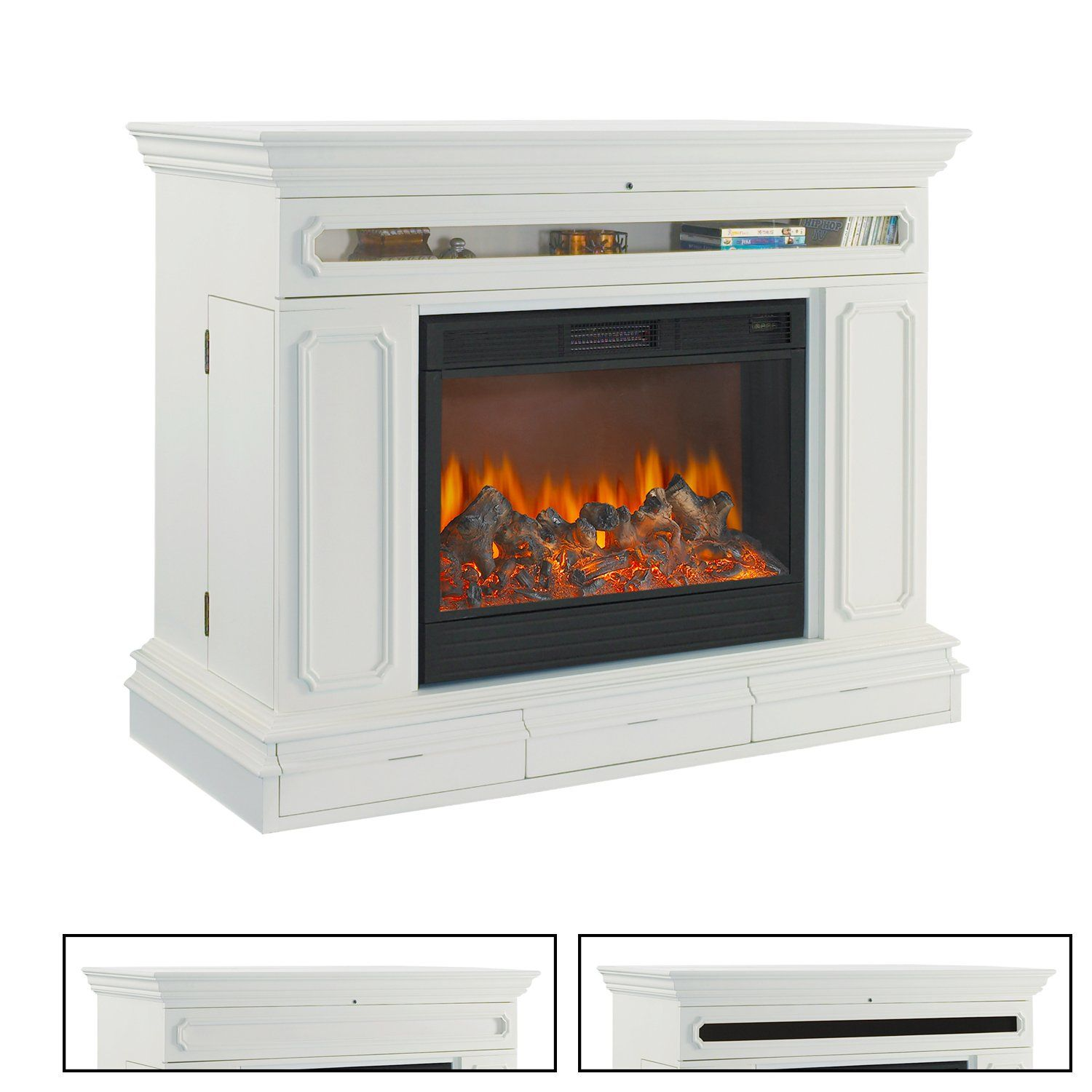 Fireplace Cabinets: TV Lift Cabinet AT004602W Remington Electric Fireplace TV
