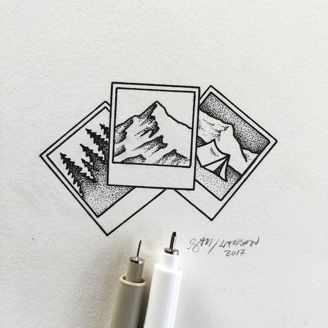 Simple little polaroids art illustration polaroid for Small drawing ideas
