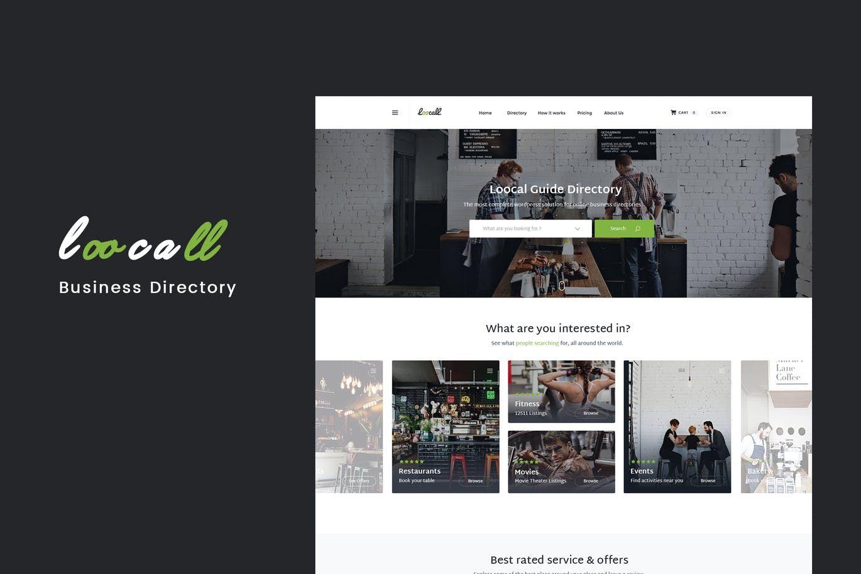 Loocall modern business directory website template html html loocall modern business directory website template html accmission Gallery