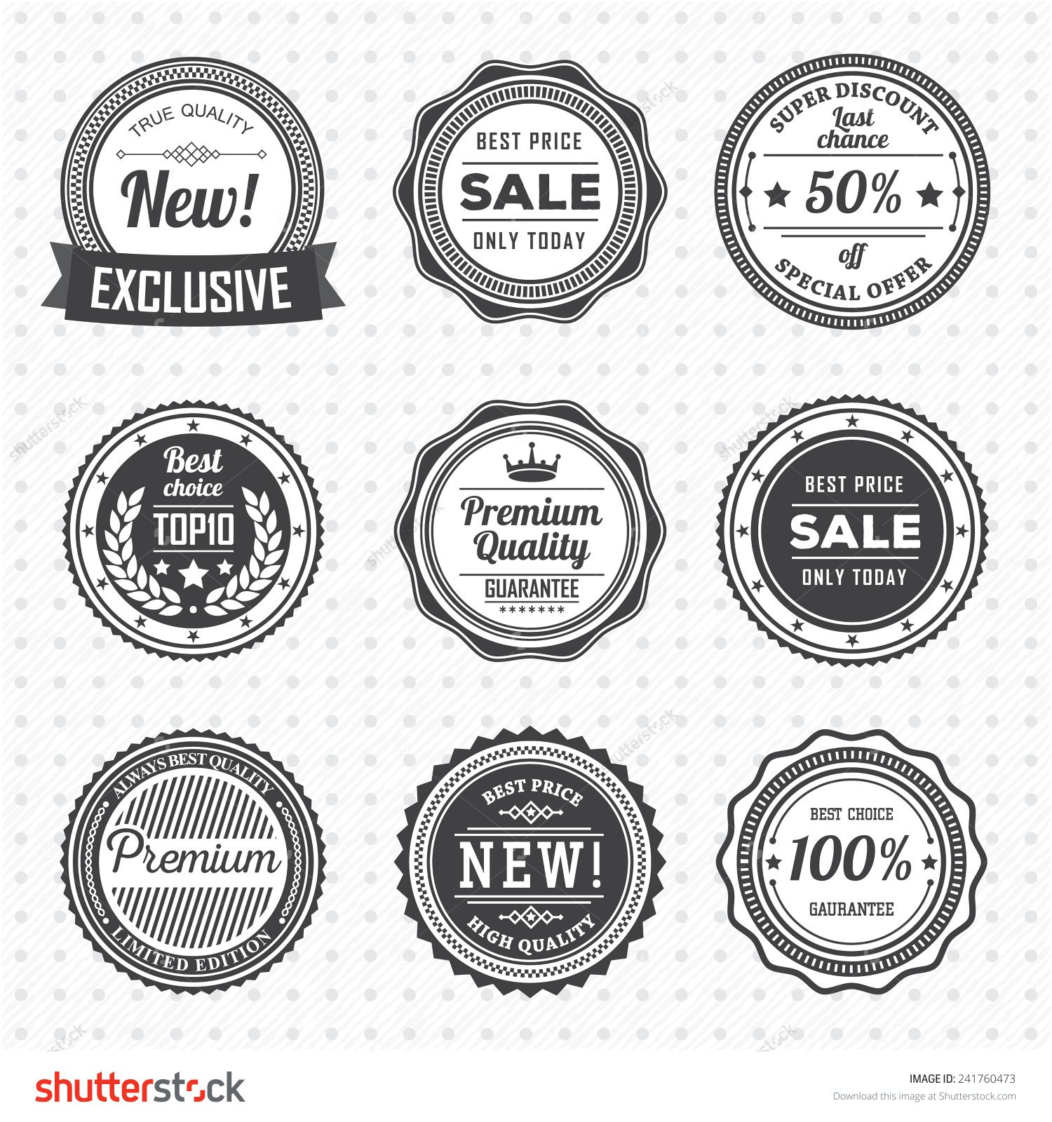 Vintage Labels Template Set Vector Design Elements Business Signs Logos Identity Retro Badges And Objects For Label Templates Label Design Business Signs