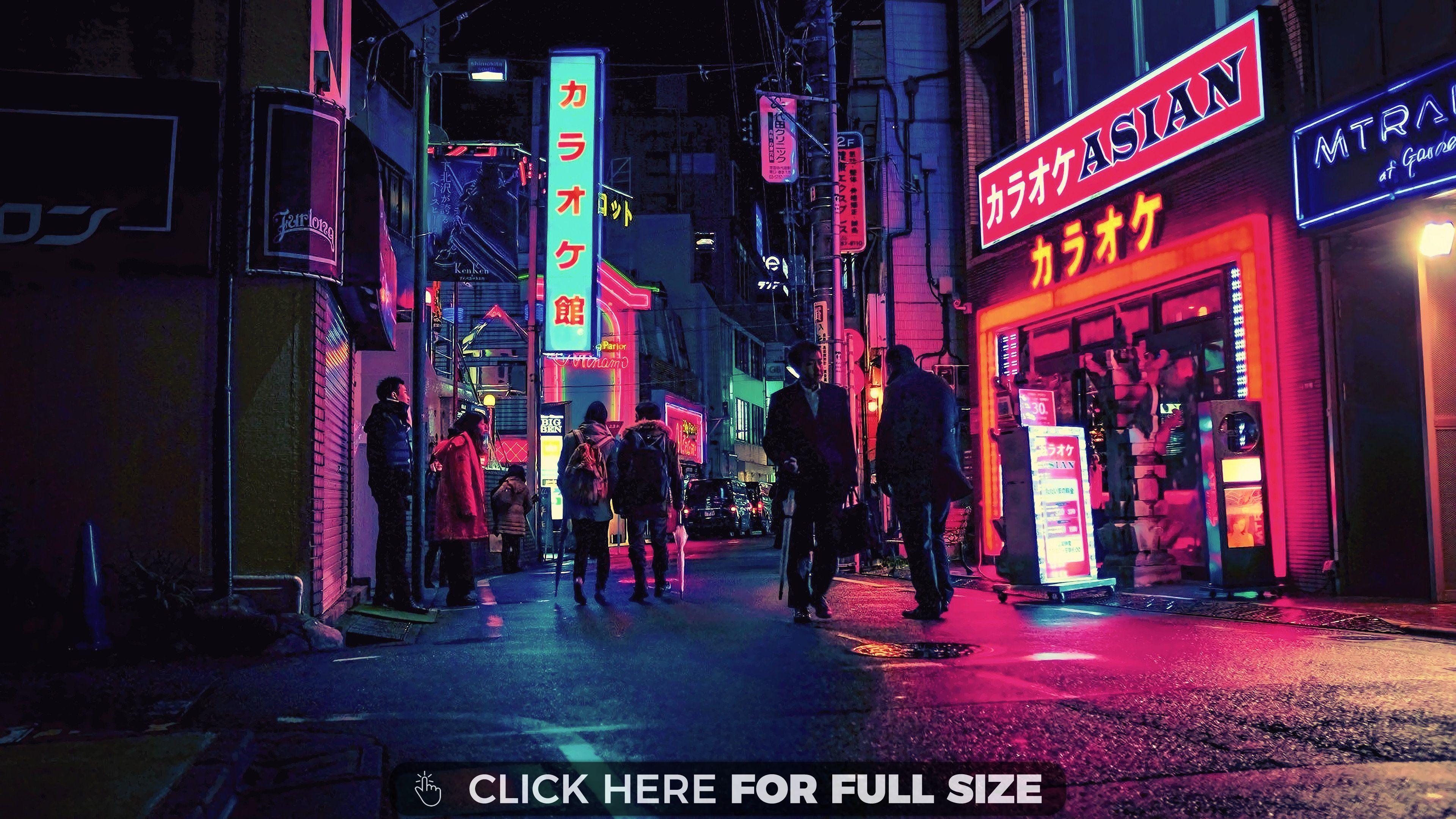 Neon City Uhd 4k Wallpaper Pixelz In 2020 City Wallpaper Neon Wallpaper Art Wallpaper