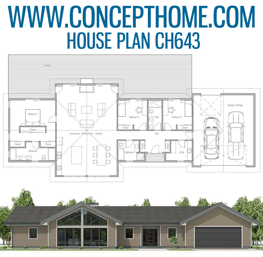 Floor Plan Ch643 Beach House Plan House Plans House Layouts