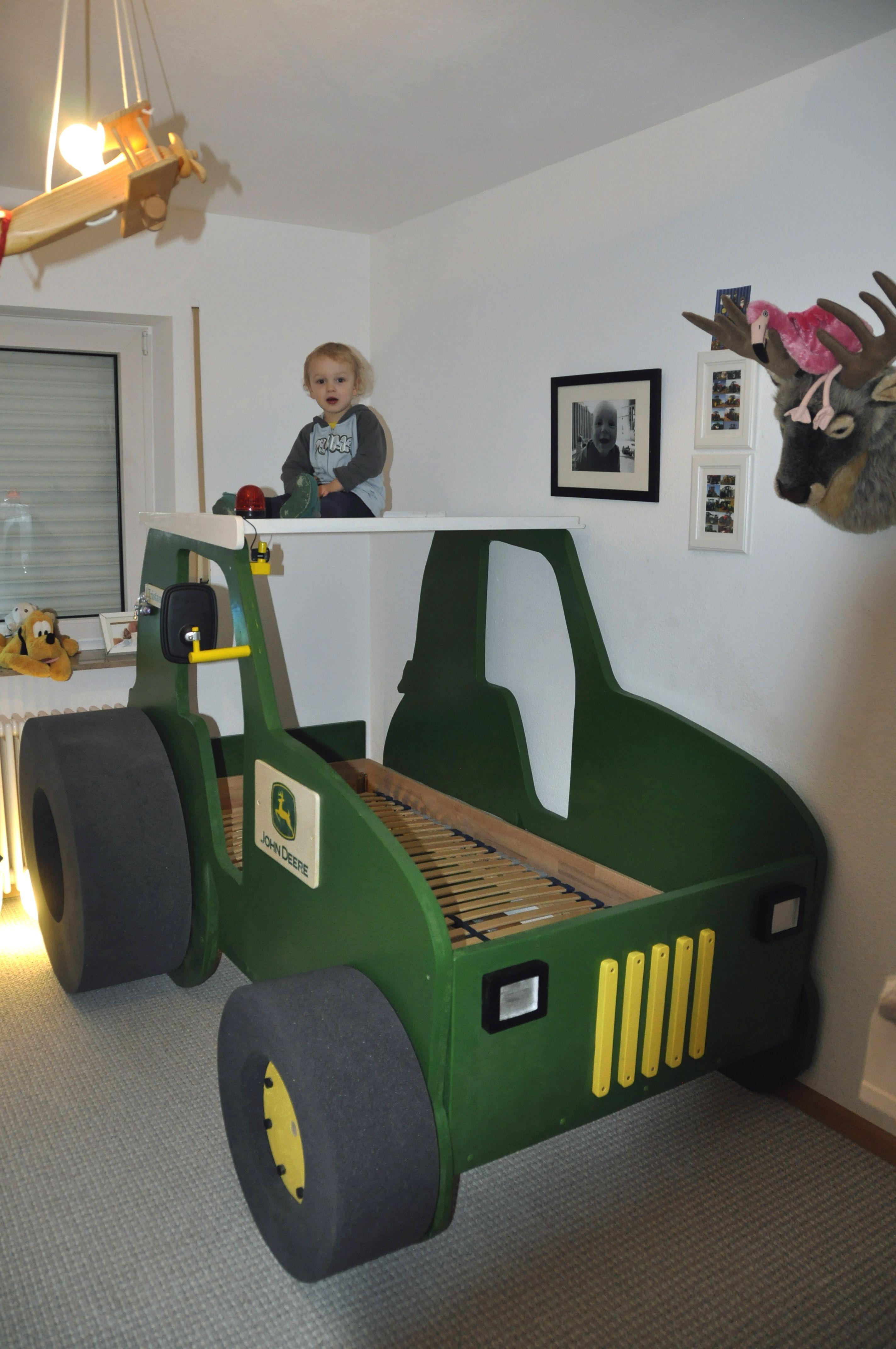 Der Enkel Freut Sich Nr 8 Traktor Als Kinderbett Kinder Bett Kinderbett Kinderbett Junge