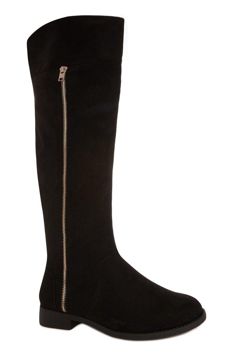 Primark - Black Knee High Boot | Black knee high boots ...