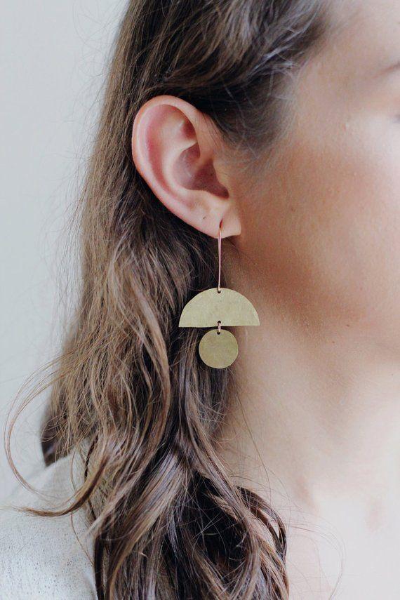 Photo of Geometric Totem Shape Earrings | Geometric Earrings | Totem Earrings | Statement Earrings | Statemen