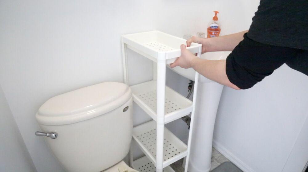Diy Space Saving Solution For Your Bathroom With No Counter Space Small Bathroom Bathroom Design Amazing Bathrooms