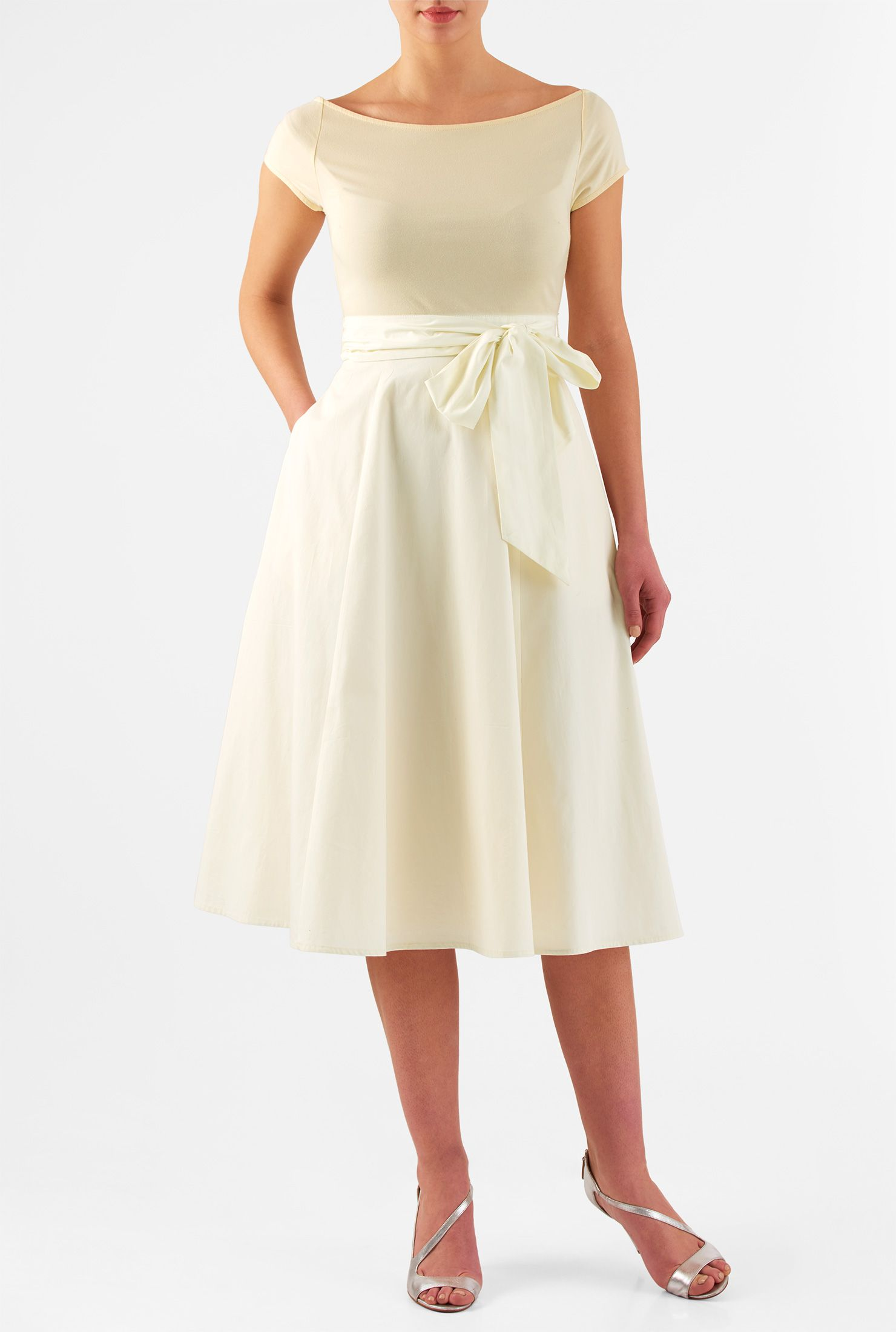 Marlow dress vintage silhouette boat neck and midi dresses