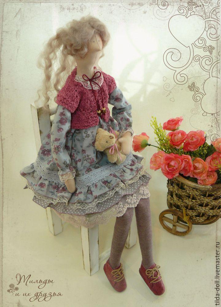 Купить Кукла в стиле Тильда: Лерочка - тильда, кукла Тильда, куклы тильды, текстильная кукла ☆