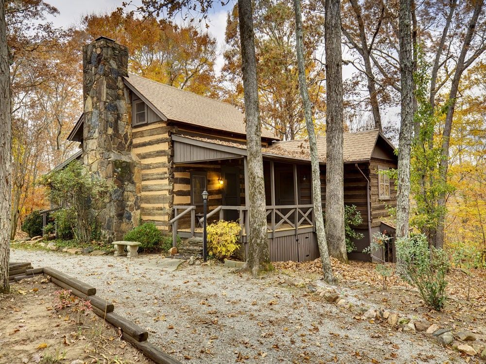 Historical 1795 Chestnut Log Cabin With Updates In 1985 Moved To Current Location Filled History And Rustic Ambiance Tryon Area Stones Make Up