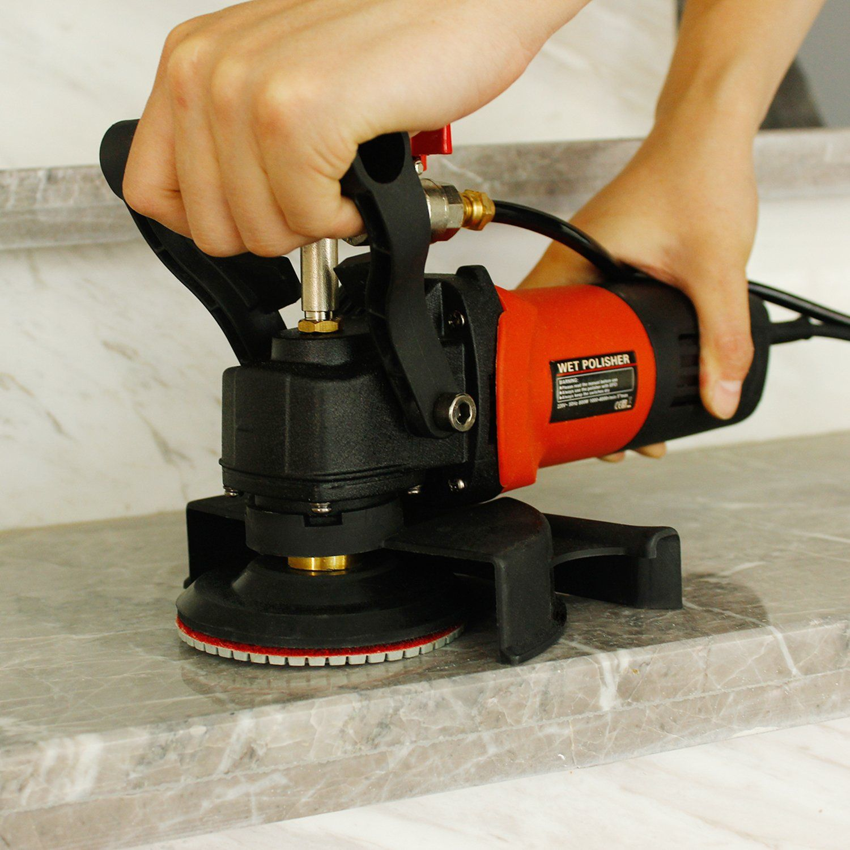Spta 8pcs Diamond Wet Polishing Pads Set For Granite Stone Concrete Marble Floor Grinder Or Polisher 50 3000 With Hook Granite Stone Power Tools Marble Floor
