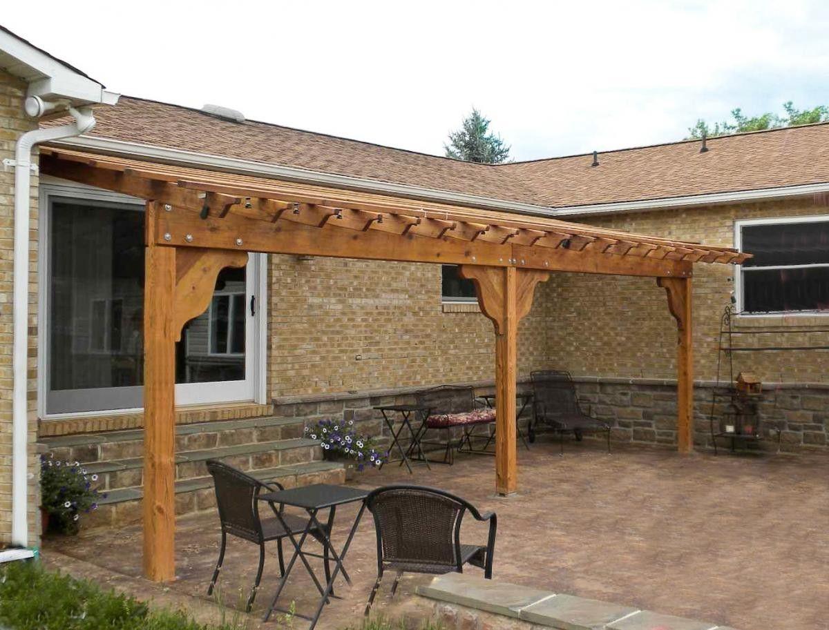 attached garden pergola options 26 l x 12 w redwood no rh pinterest com