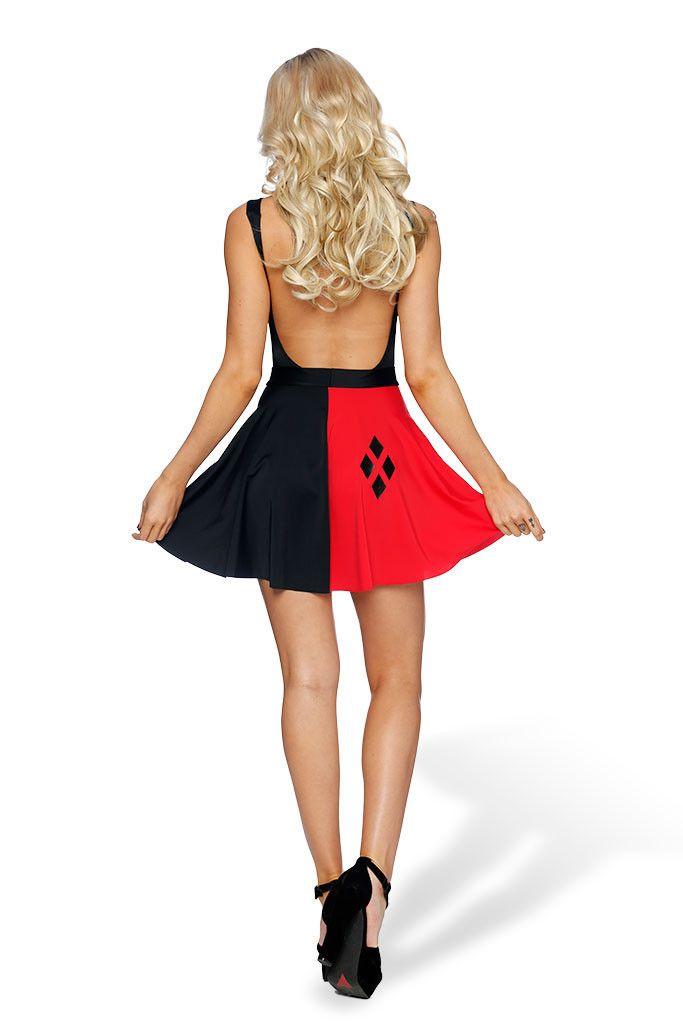 Harley Quinn Pocket Skater Skirt