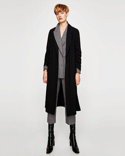 Skorzane Botki Na Obcasie Z Kwadratowym Noskiem Zara Fashion 2017 Outerwear Women Zara