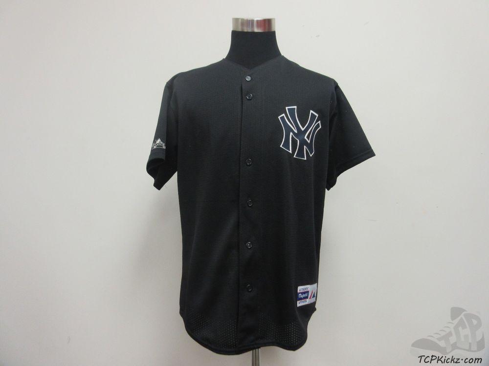 wholesale dealer 61835 58e71 Majestic New York Yankees Short Sleeve Button Up Baseball ...