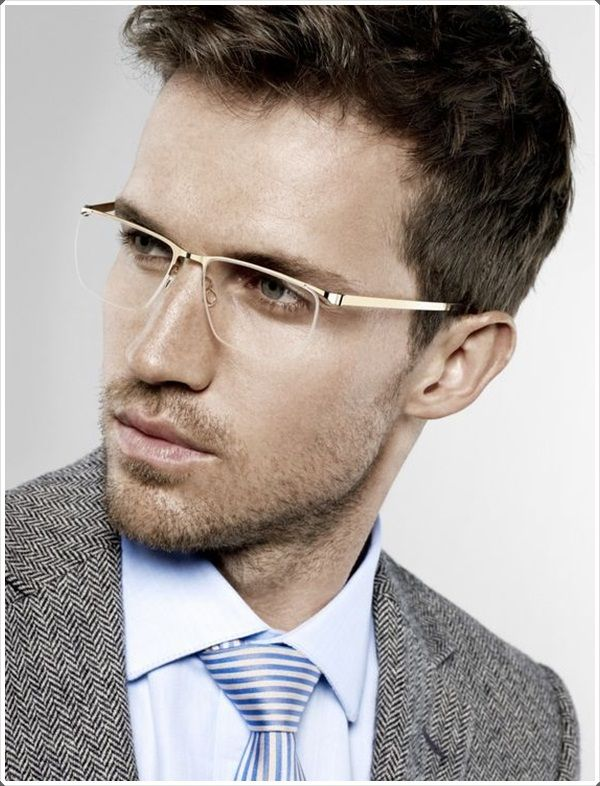 f0acb93a30 The rimless glasses are perfect for businessmen.