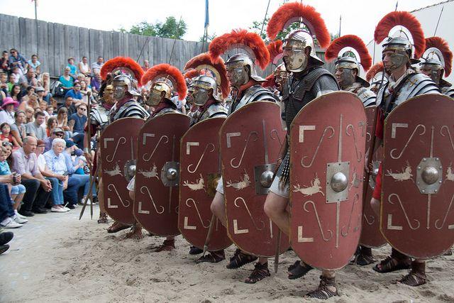 Romans in Archeon, check www.archeon.nl