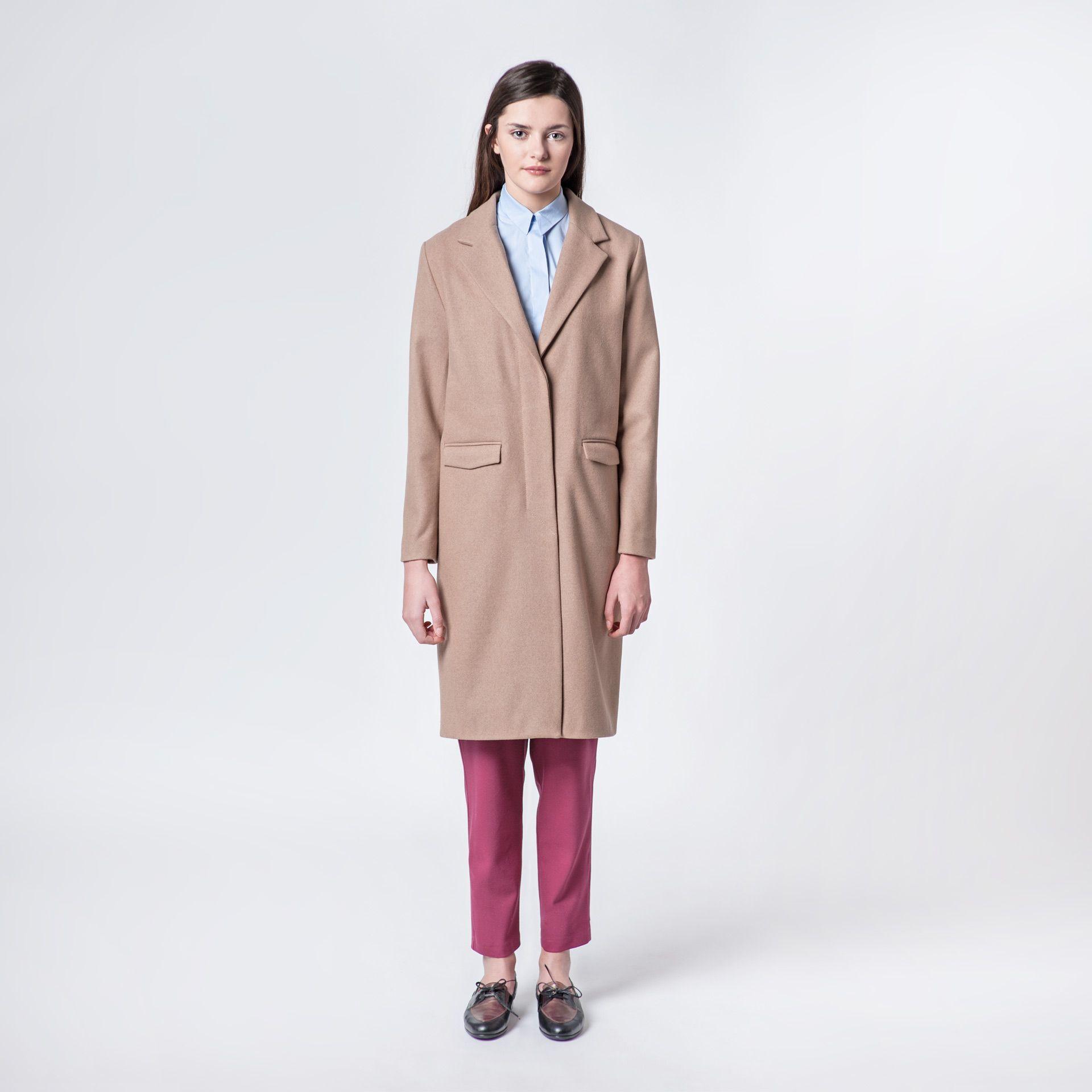 Milan Coat Beige Elementy #coat #beige #autumn #elementy #minimal #classic #polishfashion