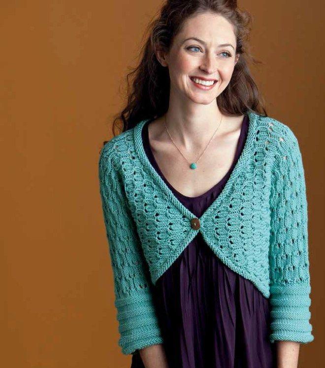 Shrug and Bolero Knitting Patterns | Boleros, Knitting patterns and ...