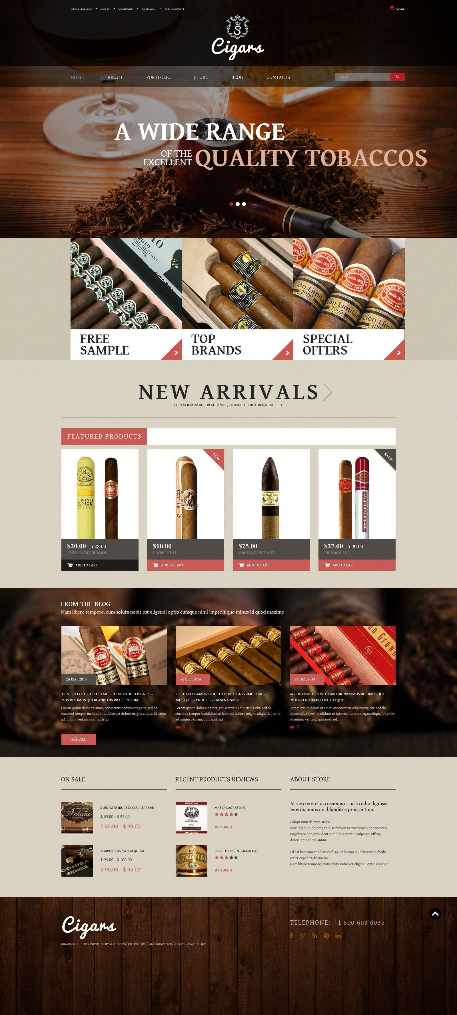 tobacco shop woocommerce theme tobacco shop and template