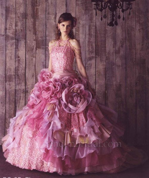 pink wedding gowns - Bunny Wears Pink: A Pink Wedding Dress on My ...