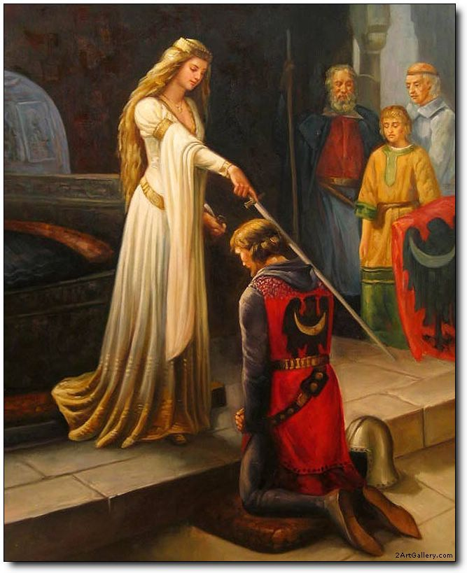 Knights oil painting,Knight oil painting,The Accolade by ...
