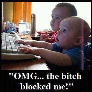 that bitch blocked me...