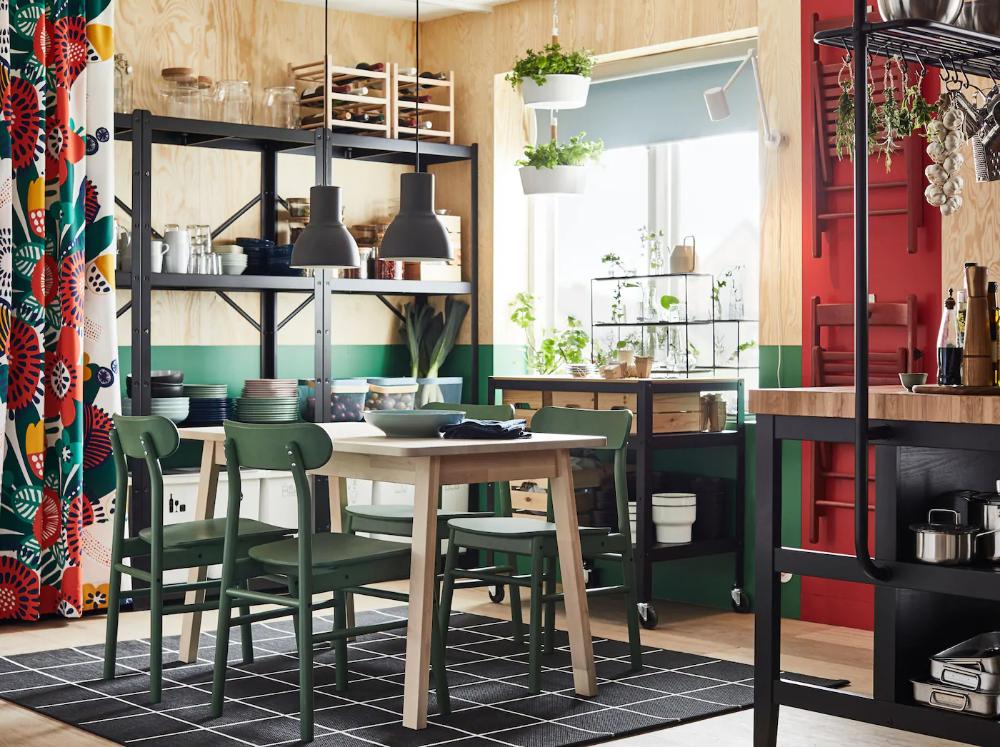 Salle à manger flower power in 2020 Ikea dining, Ikea