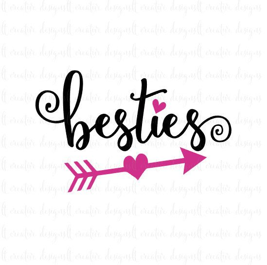 a663f422451b8 Besties Svg Best Friends Svg Friends Svg by LTCreativeDesigns Silhouette  Cameo Projects