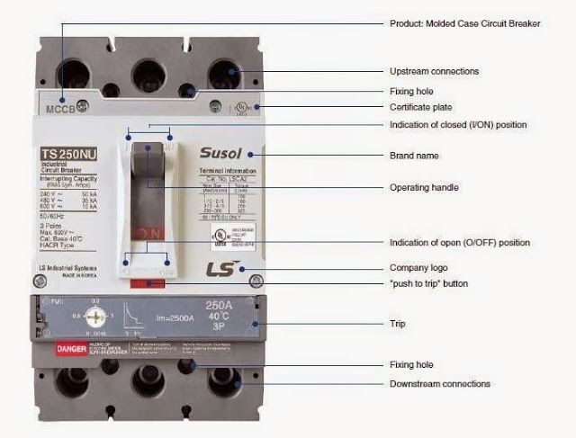 Molded Case Circuit Breaker Mccb Electrical Engineering World