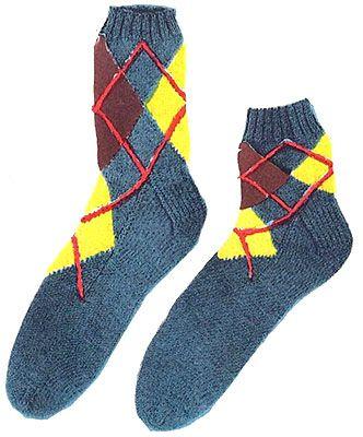 Argyle Slack Socks or Anklets Pattern #6401L | Sock ...