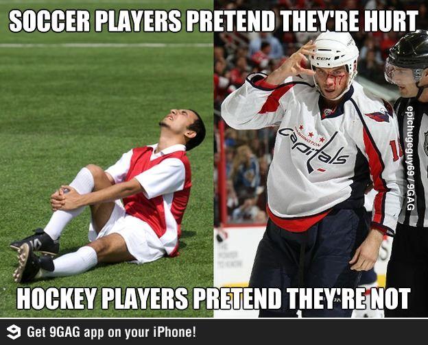 Soccer Vs Hockey Soccer Funny Hockey Memes Funny Hockey Memes